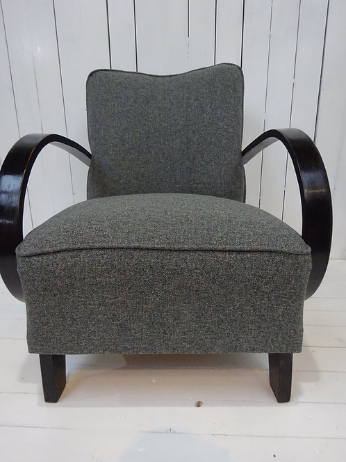 Grey Halabala Lounge armchair from The Rare Chair Company