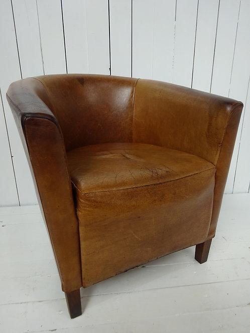tan leather chair, tan leather hotel chair, tan leather tub chair, tub chairs, worn vintage leather, tan leather tub chairs,