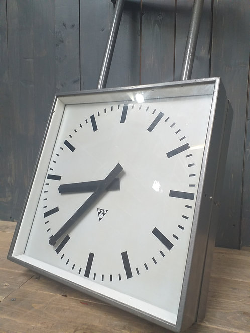 Double Sided Vintage Railway Clock