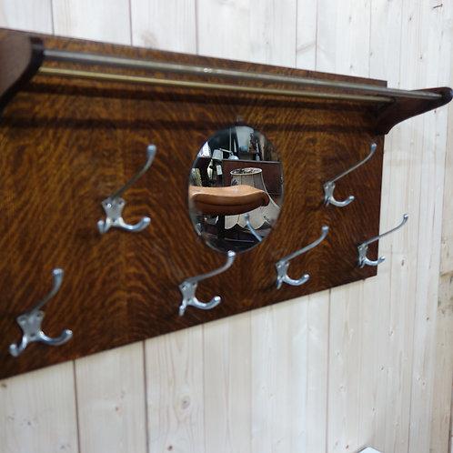 coat, hallway, coat hanger, oak, hooks, rail, mirror, distressed mirror,