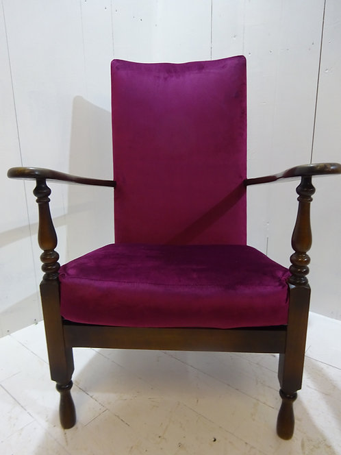 purple velvet high backed chair, eclectic, fashion,trending, home decor, interior design, uk delivery, house dressing, lounge