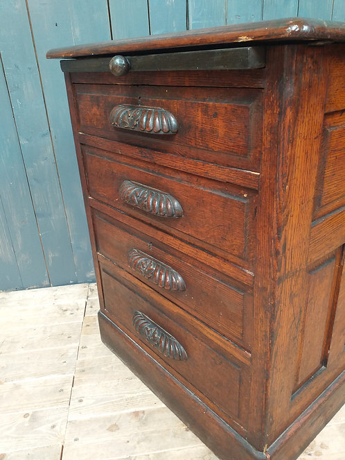 Victorian Oak Panelled Chest of Drawers
