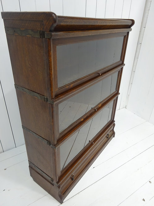 globe wernicke glass fronted book case, oak bookcase, glass, bookcases, storage, interiors, drawers, oak, antiques on line,