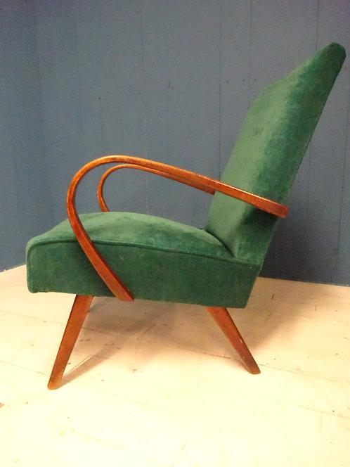 green, green fabric, green chair, bentwood chair, restored, reupholstered, salvage hunters, wax, green velvet chair, 1960s, a