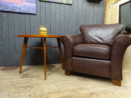 Retro Distressed Brown Leather Armchair