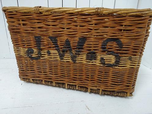 wicker basket, wicker, basket, storage basket, fire wood, firewood basket, holiday home furniture, room decor, Victorian