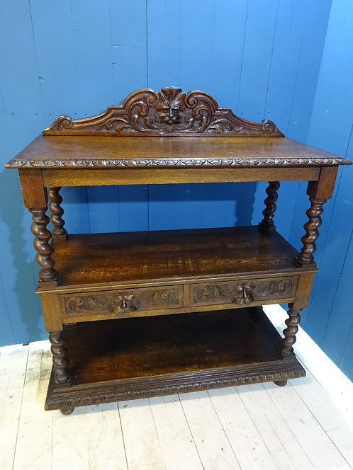 Victorian console, console table, hall table, oak antique table, rare table, english antique green man, oak console table,