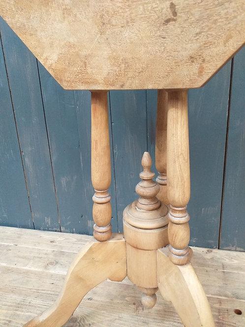Victorian Hexagonal Tilt Side Table