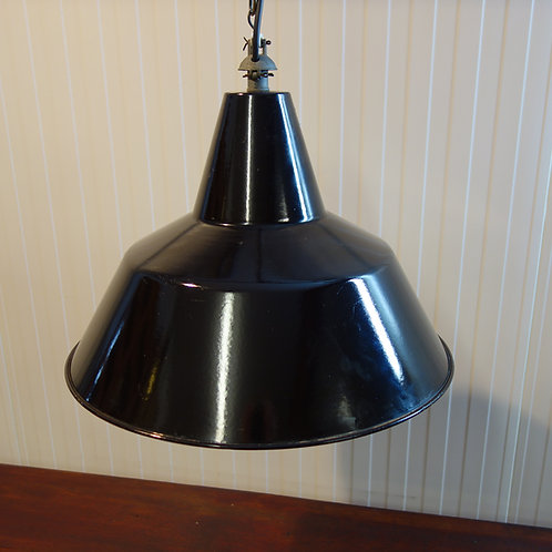 factory light, vintage factory, vintage, belgium, worldwide shipping, black, black enamel, designer, rewired, industrial