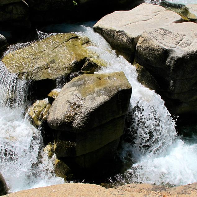 Water cut rocks in Soda Creek