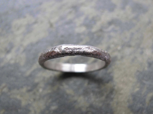 unique textured silver ring