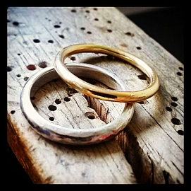 please contact me to discuss the metal shape and finish you would like for your rings and to book a make your own wedding rings day - Make Your Own Wedding Ring