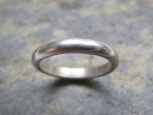 mens simple silver wedding ring