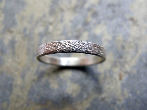 ladies silver wedding ring