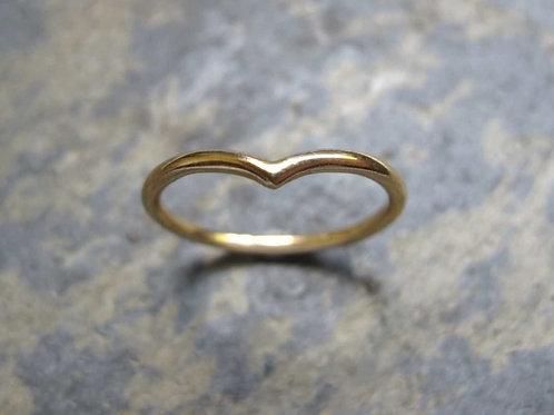 wishbone ring handmade in the UK