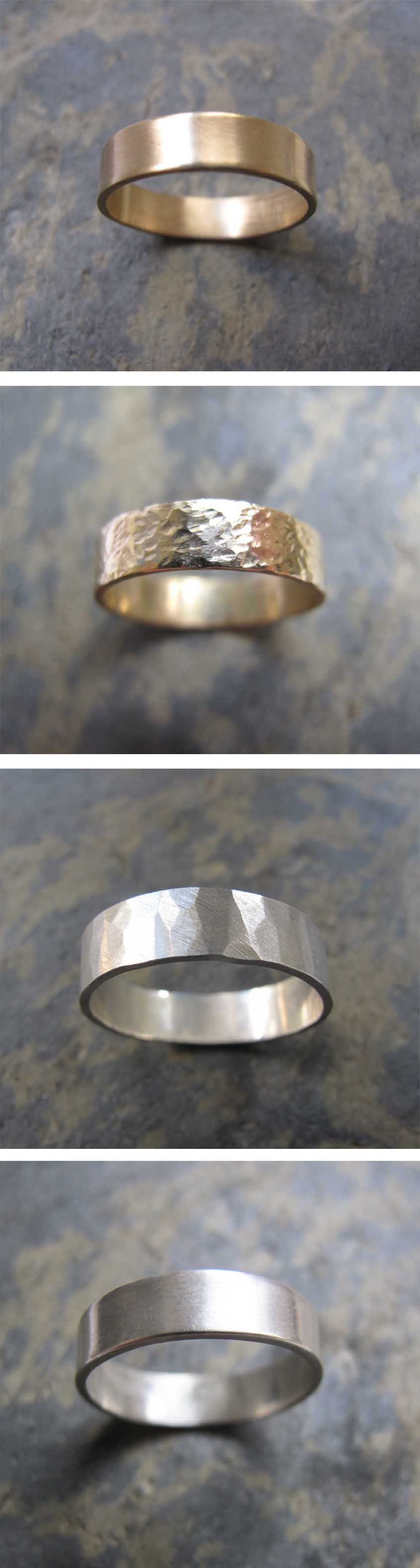 Men's gold and silver wedding bands