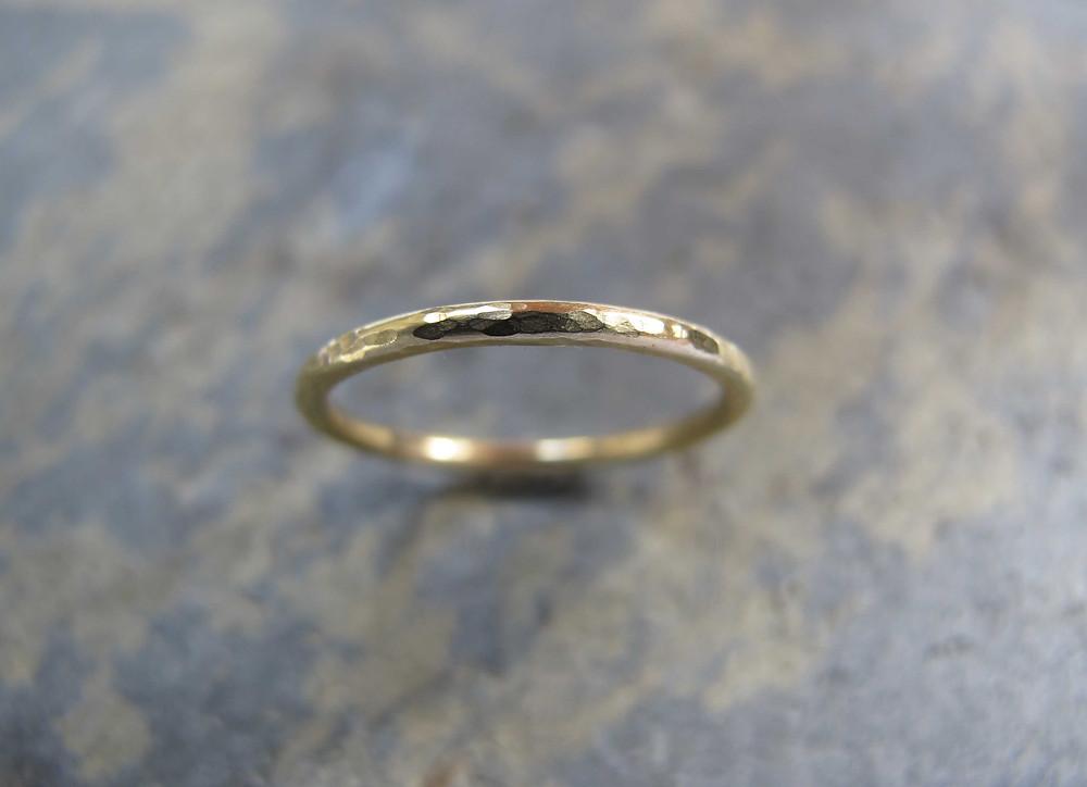 1.5mm thin dainty gold wedding ring