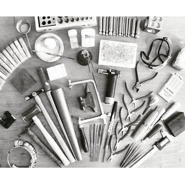 When you position your tools for a photo and get carried away! 😁 🔨🔨🔨_What is your fave tool_ _#jewellerytools #toolsofthetrade #tools #handm
