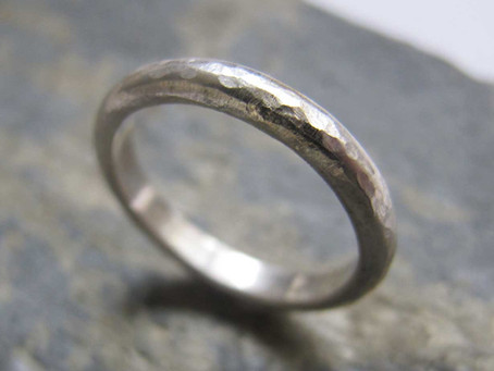 Silver band ring making