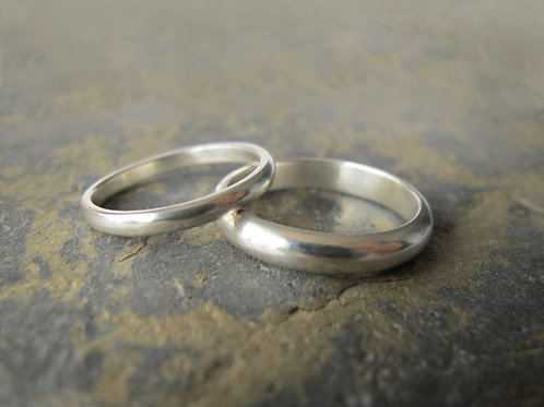 white gold wedding ring set UK