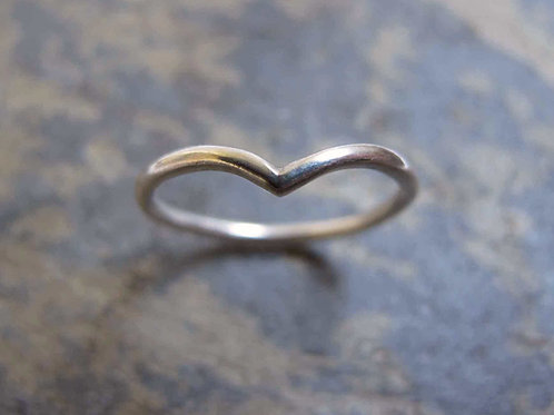 Silver stacking silver ring