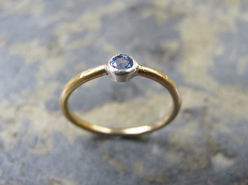 lavender sapphire gold ring