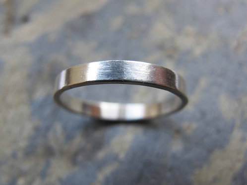 Plain silver wedding ring UK