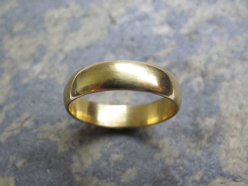 men's classic gold wedding band ring