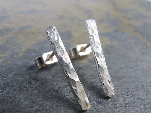 minimalist silver earrings handmade
