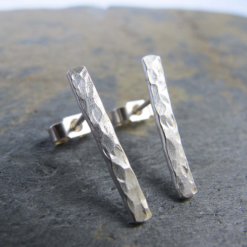 minimalist silver earrings handmade