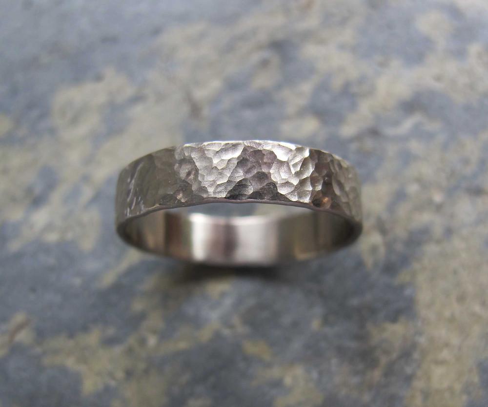 mens white gold wedding ring