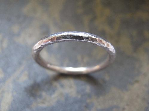 women's silver wedding ring
