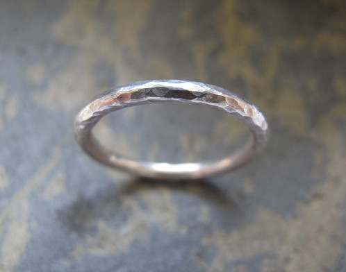 Women S Hammered Silver Wedding Band Ring Heather Stephens Jewellery Handmade Gold Rings London