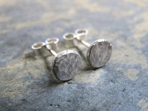Simple silver stud earrings