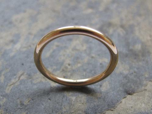 women's plain gold wedding ring