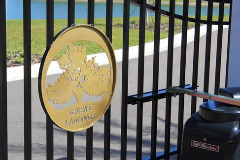 Seaside Landings Custom Gate Emblem