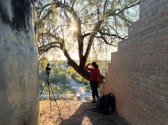 Lisa Molomot at the U.S.Mexico border, f