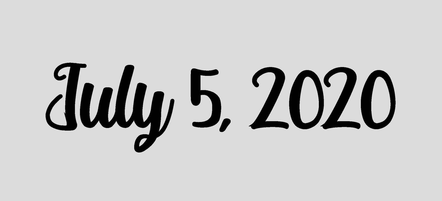 July 5, 2020