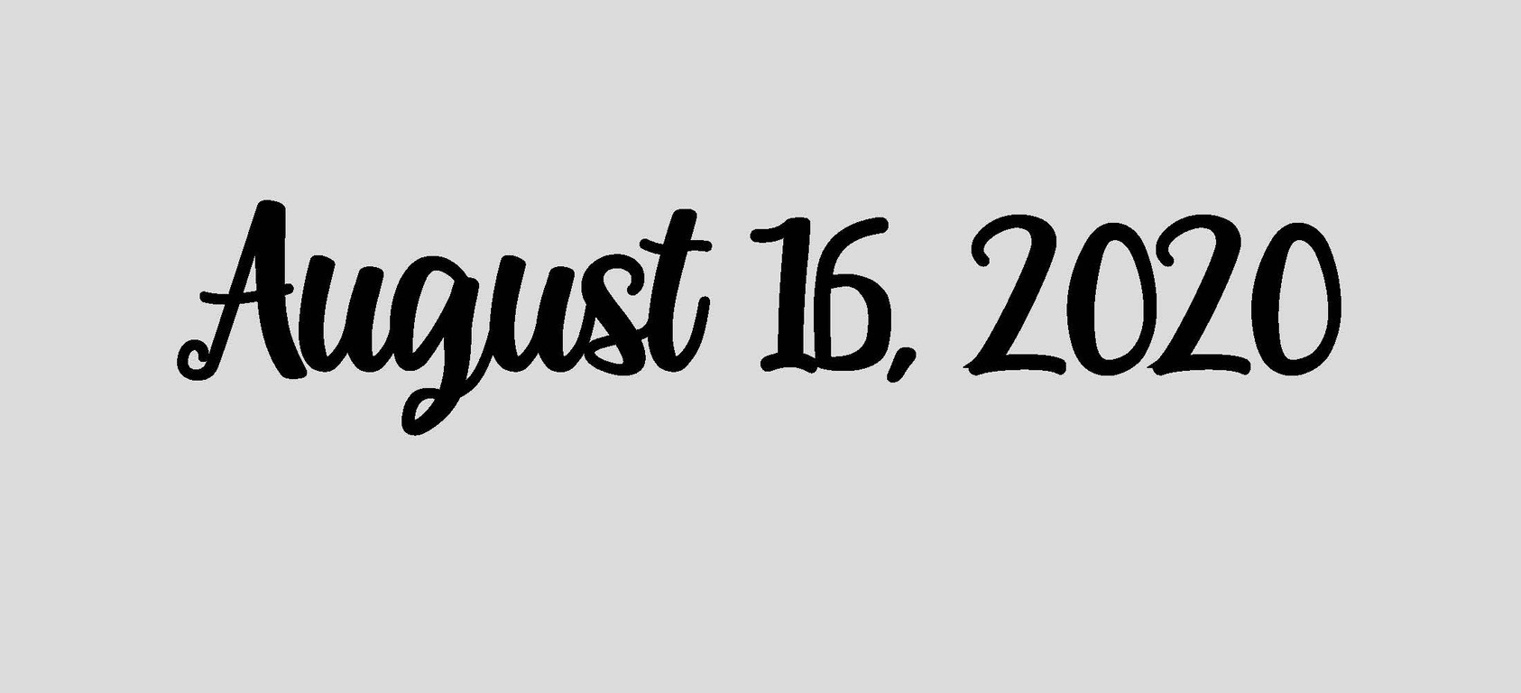 August 16, 2020