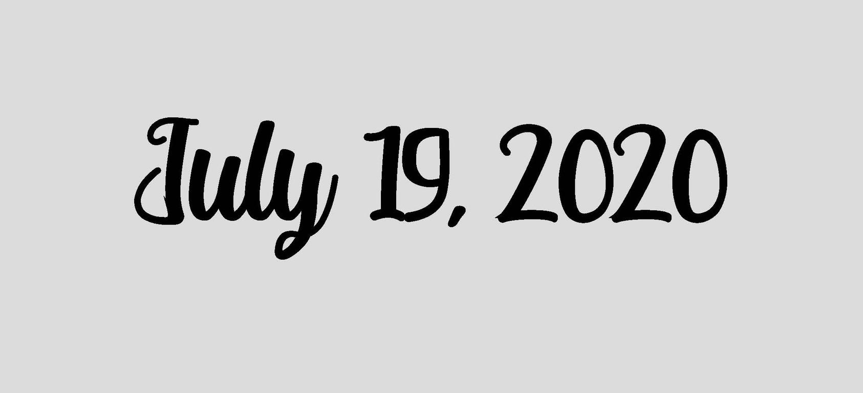 July 19, 2020