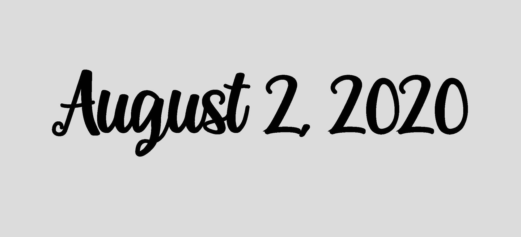 August 2, 2020