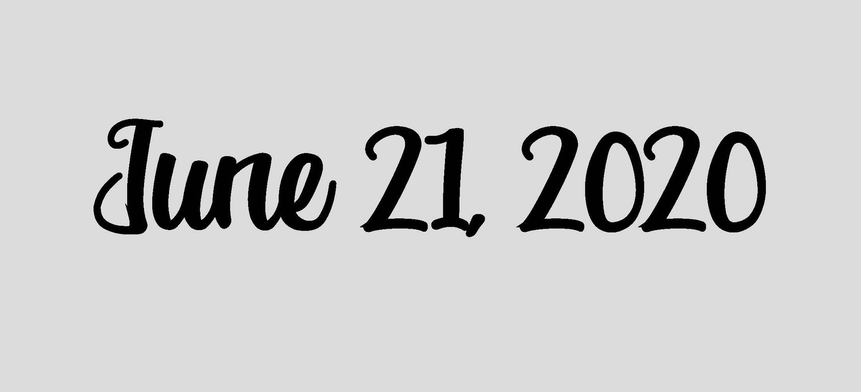 June 21, 2020