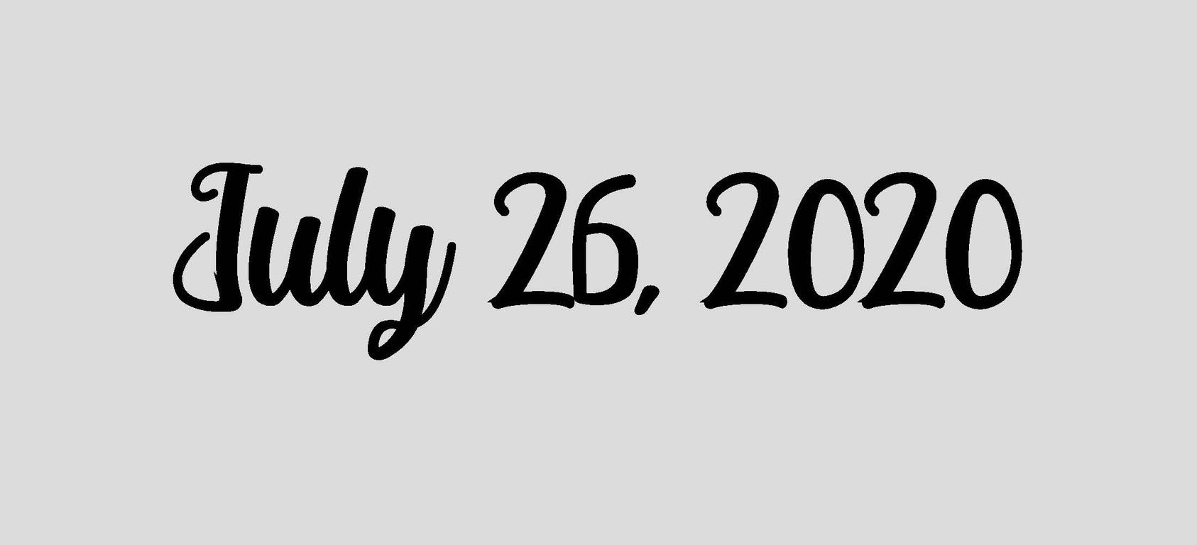 July 26, 2020