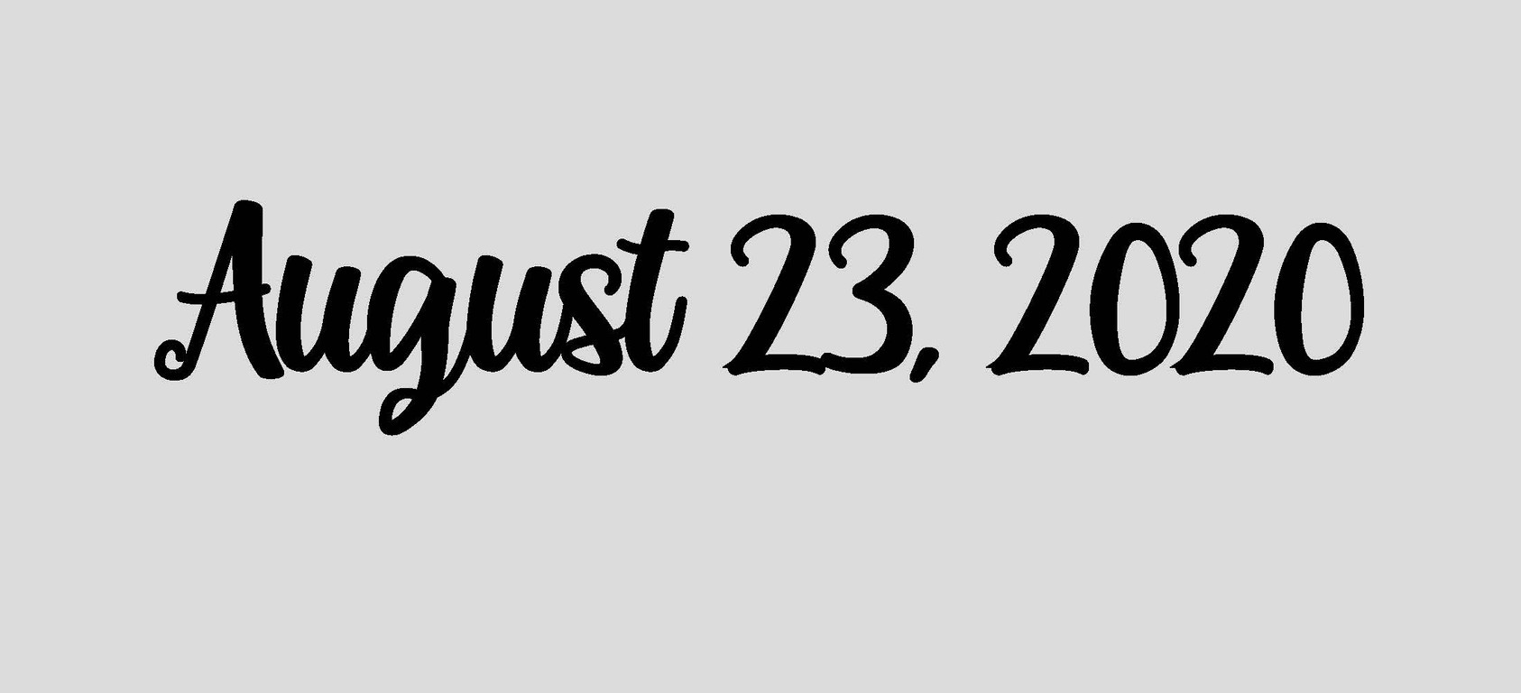 August 23, 2020