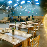 Tables in barn