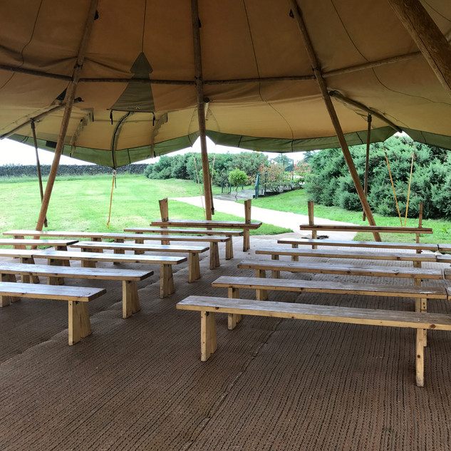 Benches for a ceremony