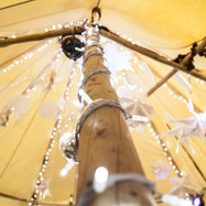 Close up fairy lights