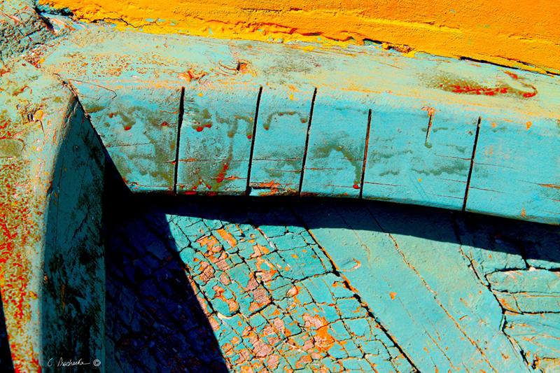 Patina Blue & Yellow  CA00075