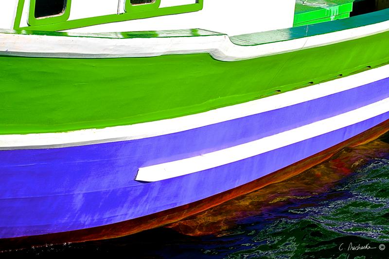 White on Green Purple  BG00079