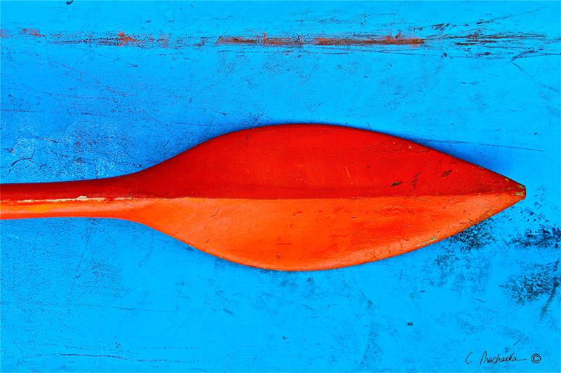 Orange Red on Sky Blue CP00038